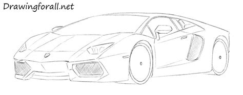 lamborghini car drawing how to draw a lamborghini drawingforall net