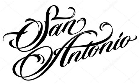 san antonio tattoo lettering stock vector 169 4ek 111633596