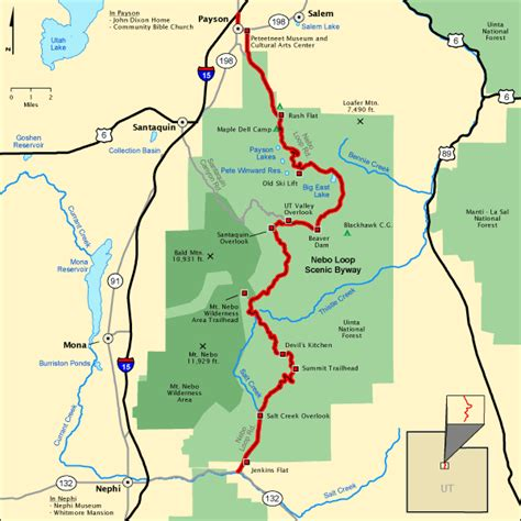 american scenic byway map nebo loop scenic byway map america s byways