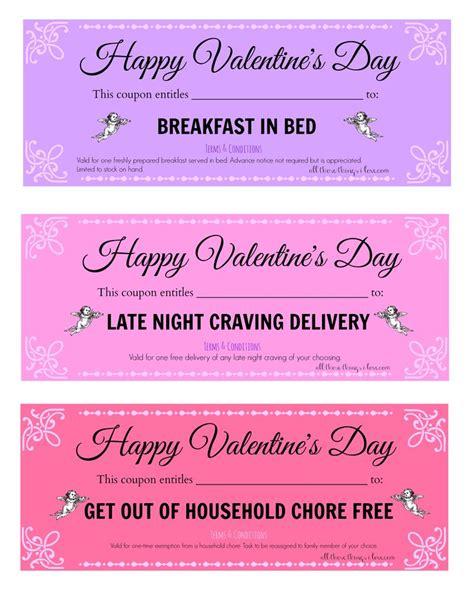 pinterest free printable love coupons free valentine s day printable love coupons