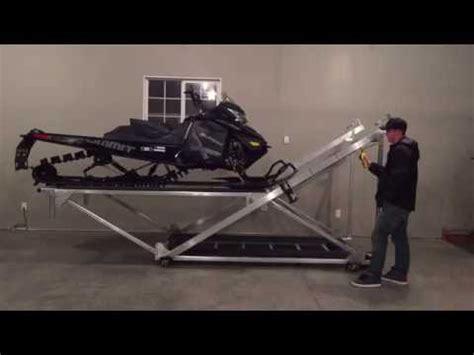 2 Car Garage Plans With Loft snowmobile atv storage lift youtube
