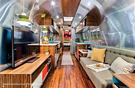 Airstream Interiors Modern by Amazing Airstream Restoration By Timeless Travel Trailers