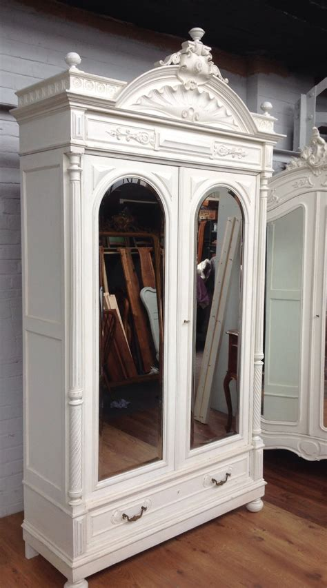 french painted armoire french painted large armoire 282431 sellingantiques co uk