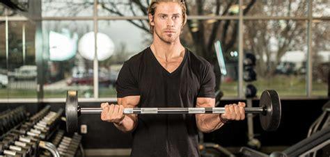 straight bar standing biceps curl bodybuilding wizard