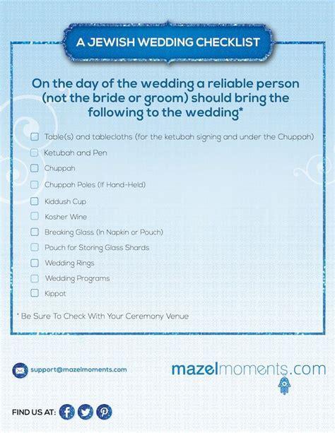 Jewish Wedding Ceremony Checklist (Jewish Weddings Guide