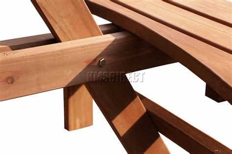 round wooden picnic bench 8 seater garden patio 8 seater wooden pub bench round picnic table