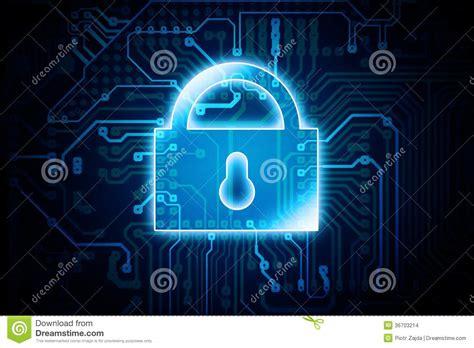 tech lock clip digital encryption lock stock images image 36703214