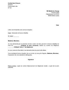 Exemple De Lettre De Demande De Note Lettre De Demande De Facture D 233 Taill 233 E M6 Mobile Mod 232 Le De Lettre Gratuit Exemple De Lettre