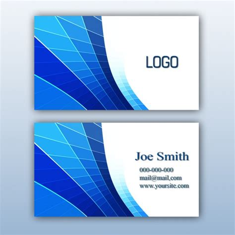 blue business card template psd blue business card design psd file free