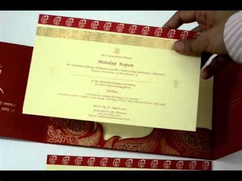 Wedding Card Design In Pagemaker by D 1962 Color Hindu Cards Indian Wedding Invitations