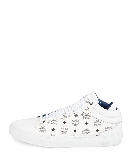 white mcm sneakers mcm monogrammed low top sneaker white