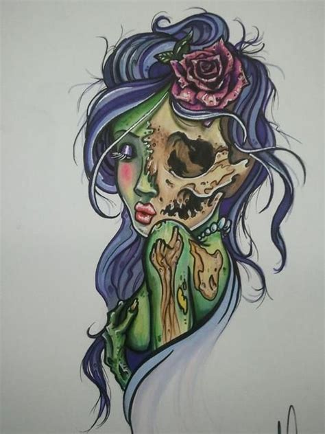 design art zombie 83 best tattoo designs images on pinterest drawings