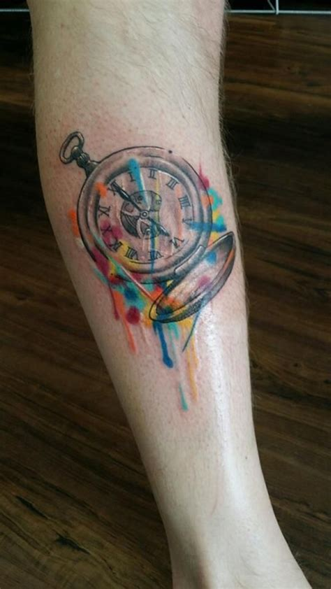 watercolor tattoo brisbane this would even more as a compass instead of a