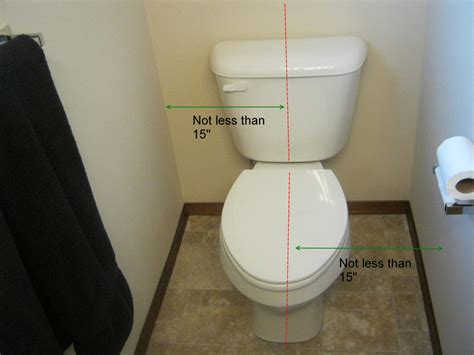 residential code requirement for toilet clearance