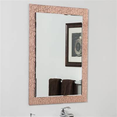 decor wonderland ssm5039s vanity bathroom mirror decor wonderland ssmc100 copper leaf modern bathroom