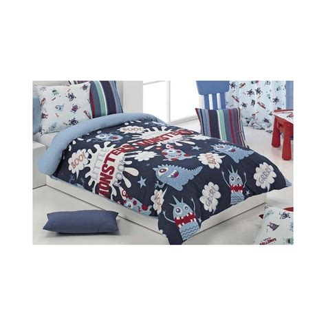 fundas nordicas para cama de 105 fundas nordicas infantiles monsters color azul para cama