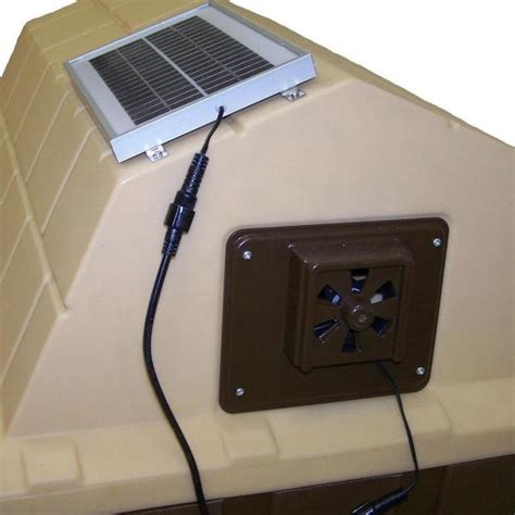 dog house with fan small animal supplies solar powered exhaust fan for dog house use shed attic motor