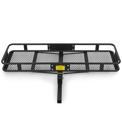 rack for hitch receiver folding luggage cargo basket carrier truck suv trailer receiver hitch rack 60x20 ebay