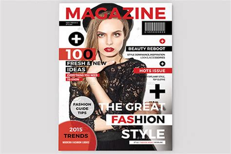 magazine cover template indesign magazine cover template sistec