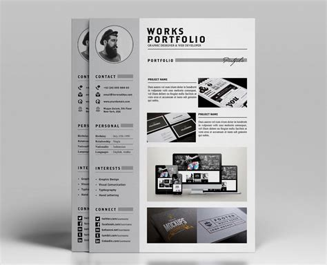 Resume And Portfolio by Resume Portfolio Template Ya