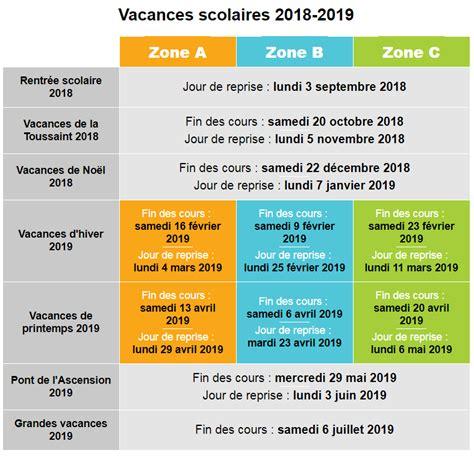 on conna 238 t les dates des vacances scolaires 2018 2019
