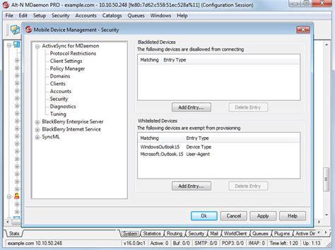 activesync mobile device management mail server mdaemon messaging server mobile device access