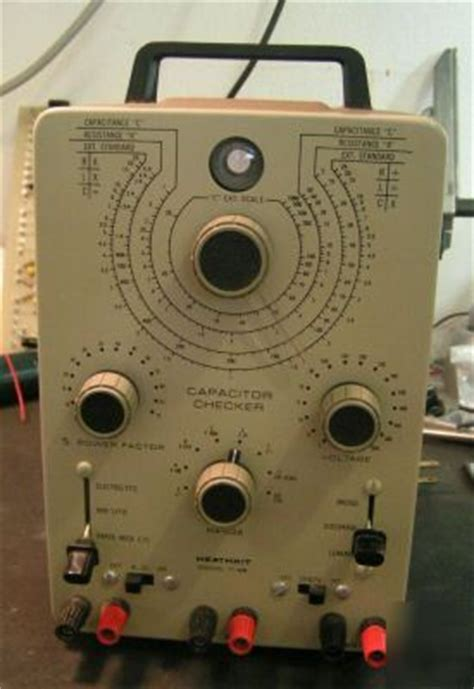 heathkit capacitor checker model it 28 heathkit it 28 capacitor checker