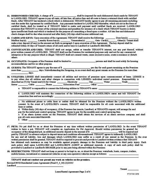Nevada Month To Month Rental Agreement Form Free Download Nevada Residential Lease Agreement Template