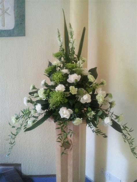 Pedestal Arrangements For Church 184 best images about flowers for church on