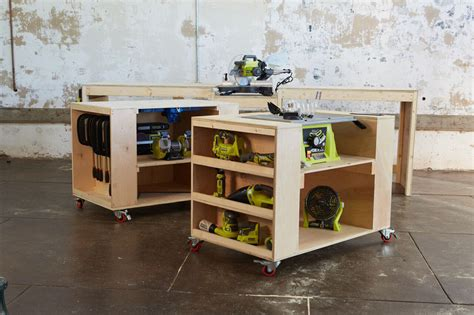ryobi work bench ana white ultimate roll away workbench system for ryobi blogger build off diy projects