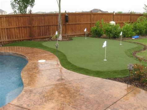 Backyard Putting Green Supplies by Backyard Putting Green Poolside Modern Outdoor And