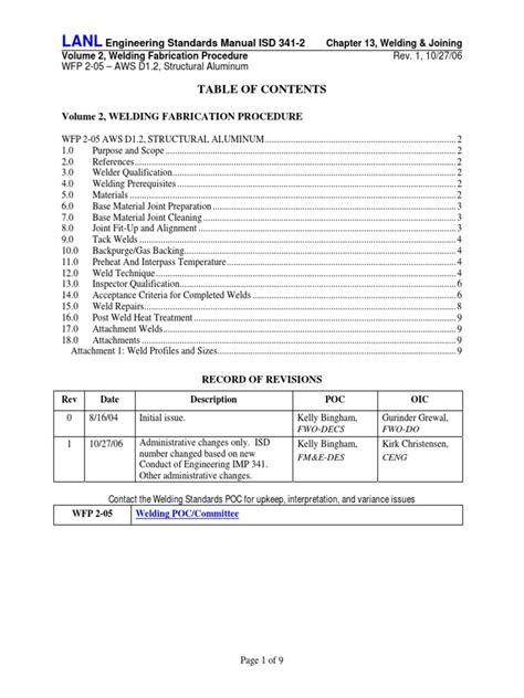 WFP 2 05 Procedure R1 | Welding | Nondestructive Testing