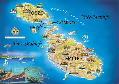 0004490487 carte touristique malta and visiter gozo et o 249 dormir 224 gozo