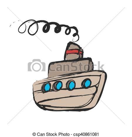 dessin animé bateau bateau dessin anim 233 navire vapeur vecteur search clip