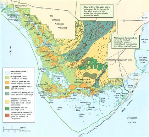 everglades national park map 24 high resolution national park maps
