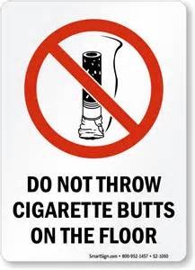 On The Floor Meaning Cigarette Signs