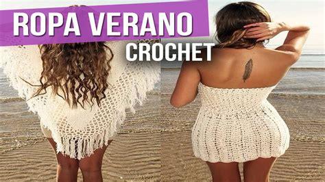 ropa echa en crochet ropa verano mujer blusas vestidos tejidos a crochet