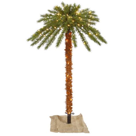 6 ft christmas palm tree pre lit