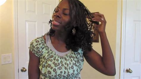 how to curl box braids with hot water curls on box braids youtube