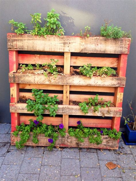 herb garden ideas pinterest diy vertical pallet herb garden gardening ideas