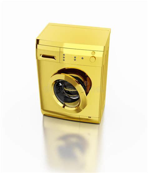 Whitening Gold Wash Rossa gold washing machine stock illustration image 45251986