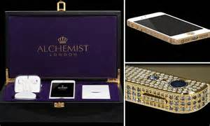 iphone 0 dollars million dollar iphone jewellers create gold version with 700 diamonds daily mail