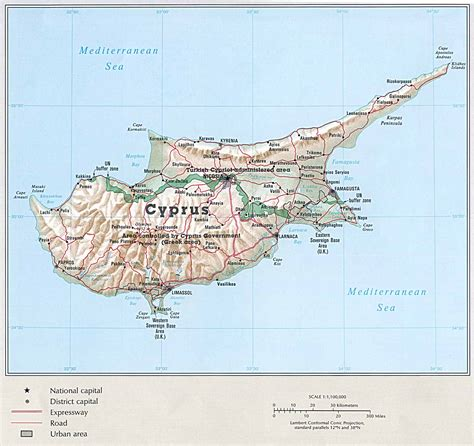 middle east map nicosia info about cyprus