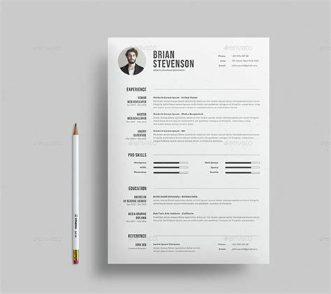 35 Best Resume Templates Of 2016 Dzineflip Clean Resume Template
