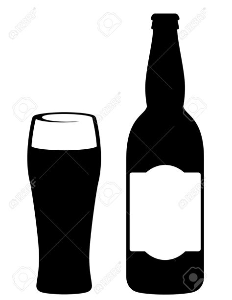 cartoon beer black and white beer bottle clipart black and white vector black beer