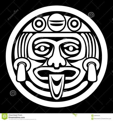 imagenes de aztecas blanco y negro mascarilla azteca imagenes de archivo imagen 28364544