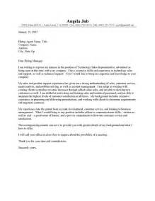 Technology Sales Cover Letter by Letter Of Application Letter Of Application Sle Sales