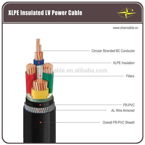 three phase manufacture electric cable and pvc sheathed