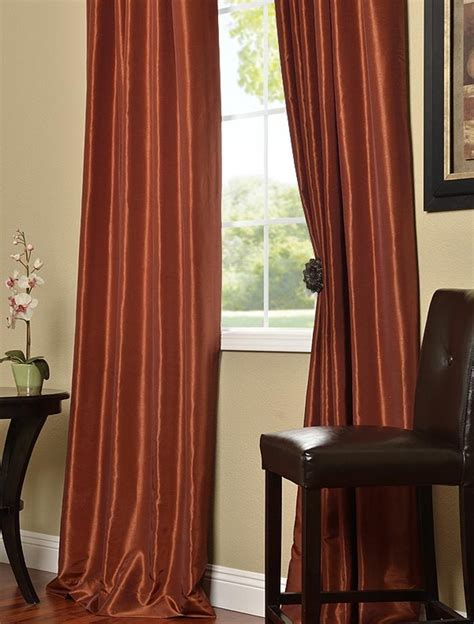 burnt orange silk curtains pin by amanda barber on living room pinterest
