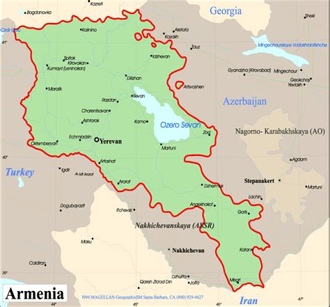 Armenia World Map by Armenien Kapital Karte